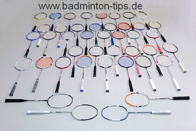 Repaired Rackets - Badminton Training on www.badminton-tips.de